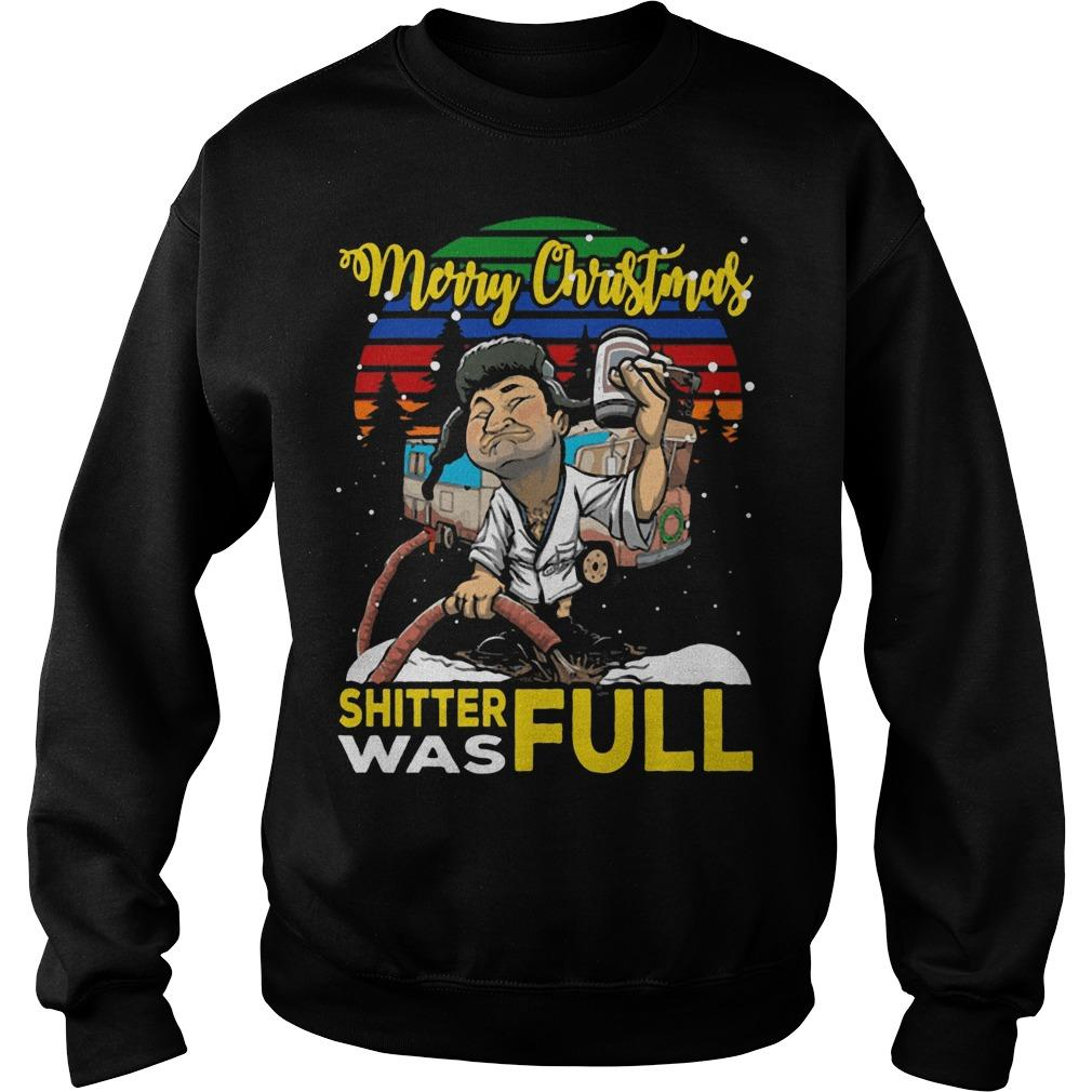 Vintage Lampoon Merry Christmas Shitter Was Full Sweater