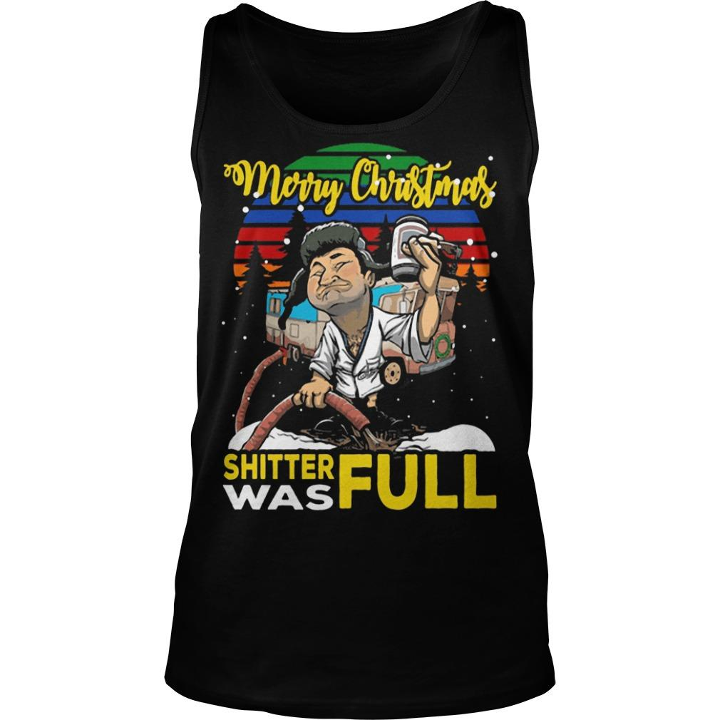 Vintage Lampoon Merry Christmas Shitter Was Full Tank Top