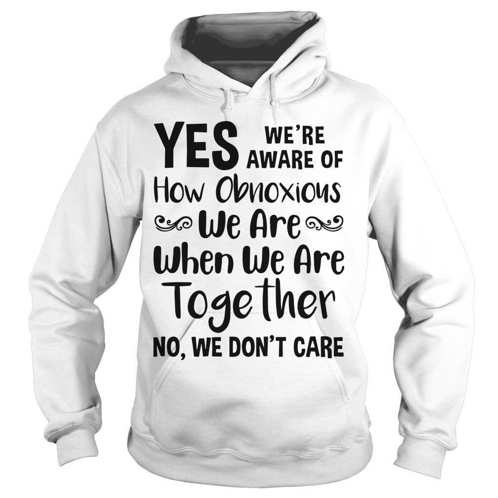 Yes We're Aware Of How Obnoxious We Are Together No We Don't Care Hoodie