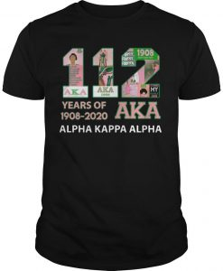 112 Years Of Aka 1908 2020 Alpha Kappa Alpha Shirt