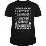 12 Days Of Social Work A Super Social Worker Just Like Me Shirt