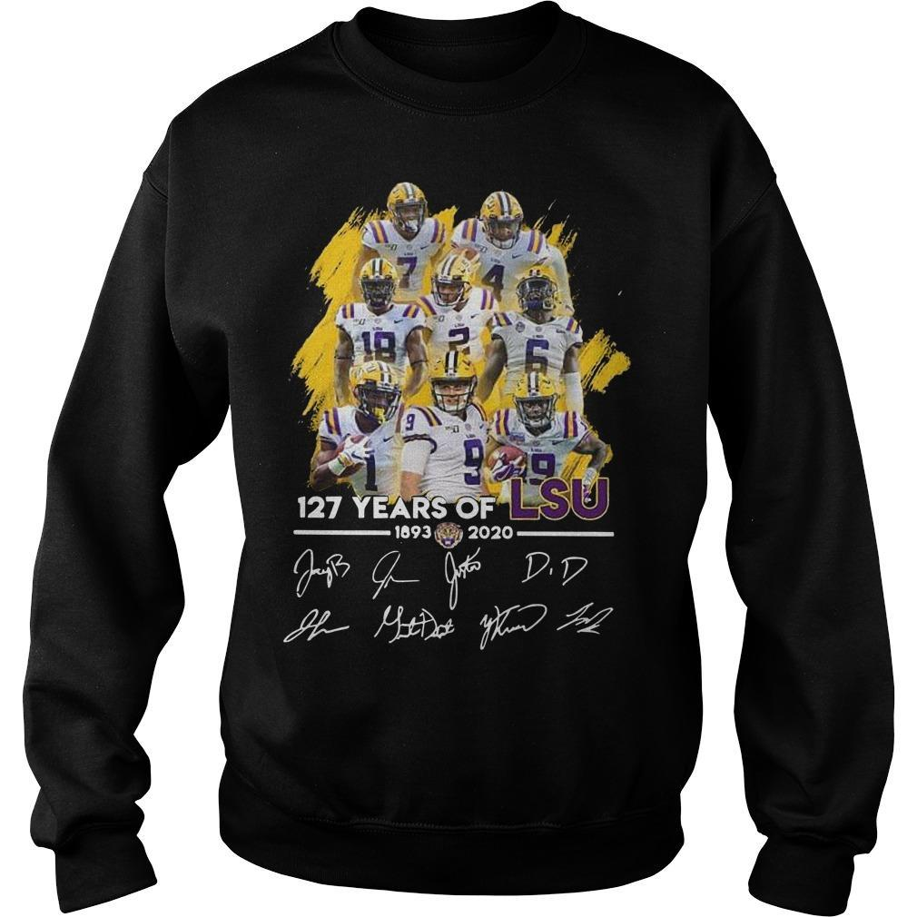 17 Years Of Lsu 1893 2020 Signatures Sweater