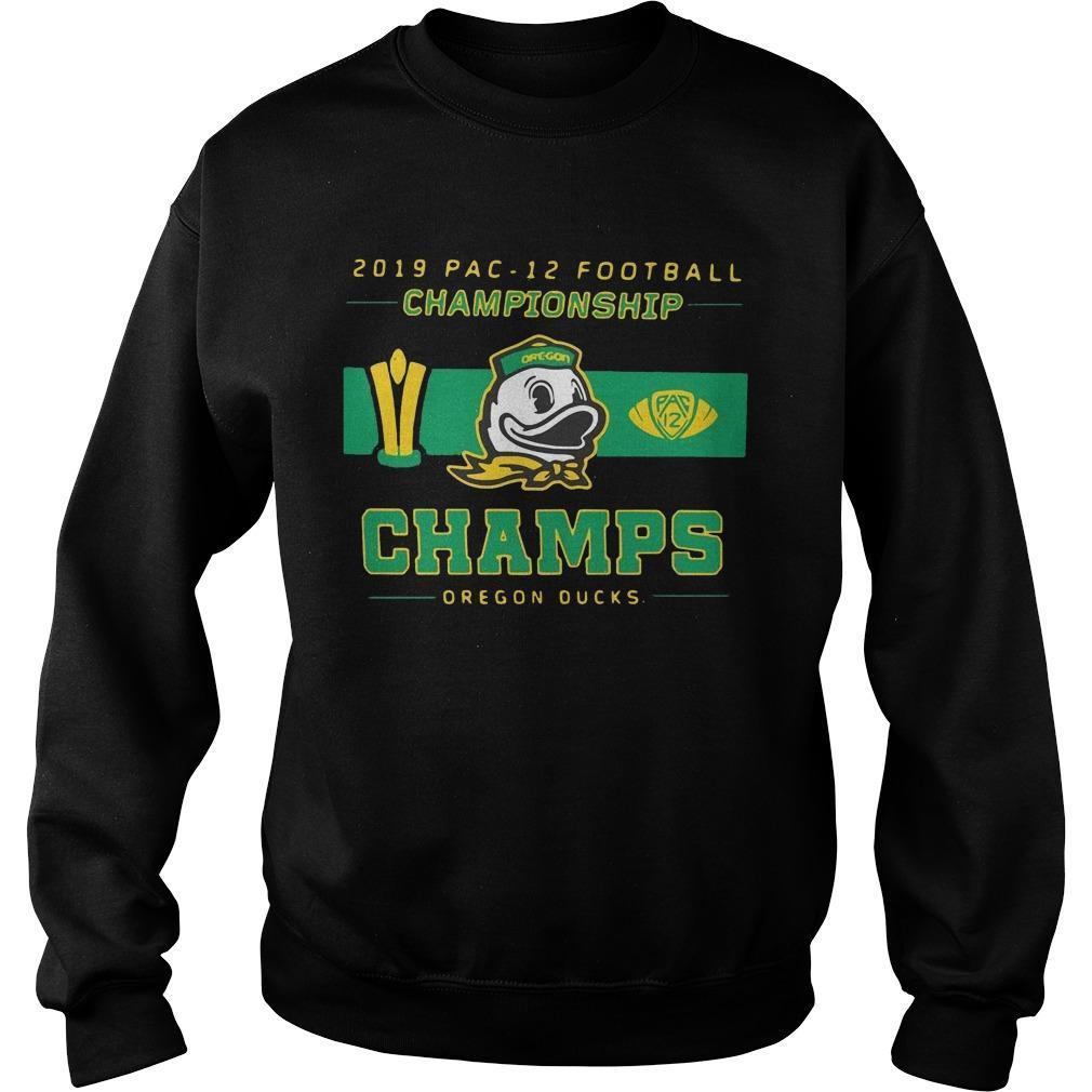 2019 Pac 12 Football Championship Champs Oregon Ducks Sweater
