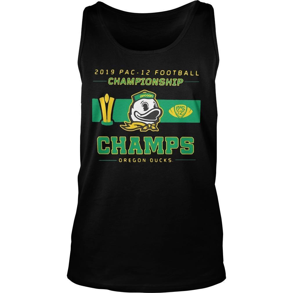 2019 Pac 12 Football Championship Champs Oregon Ducks Tank Top