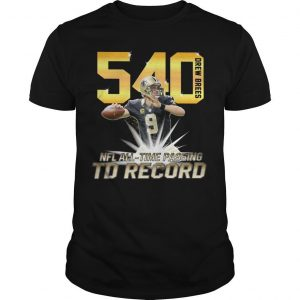 540 Drew Brees Nfl All Time Passing Record Shirt