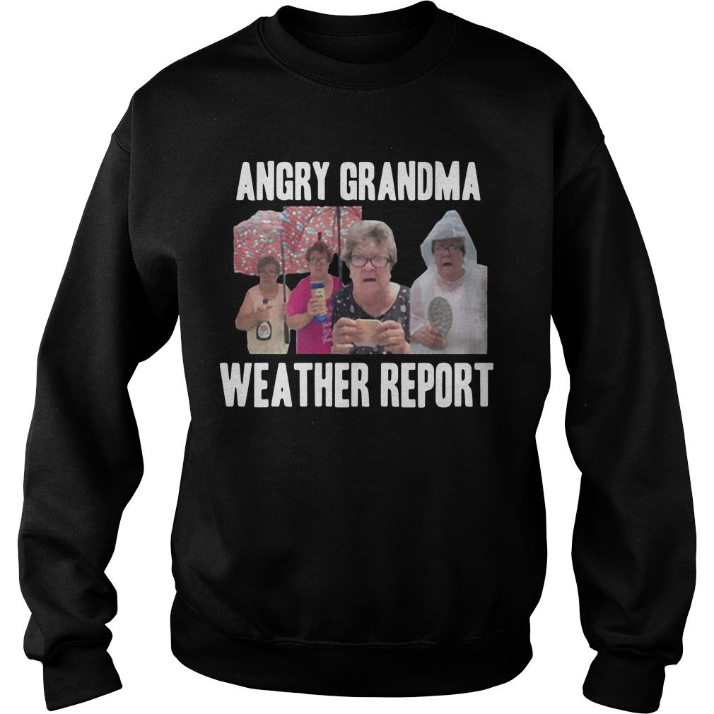 Angry Grandma Weather Report Sweater