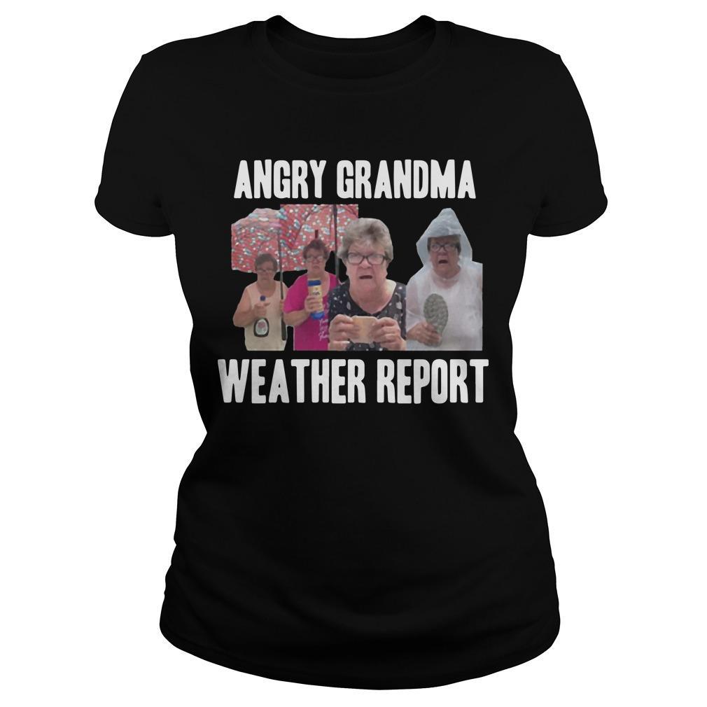Angry Grandma Weather Report Tank Top