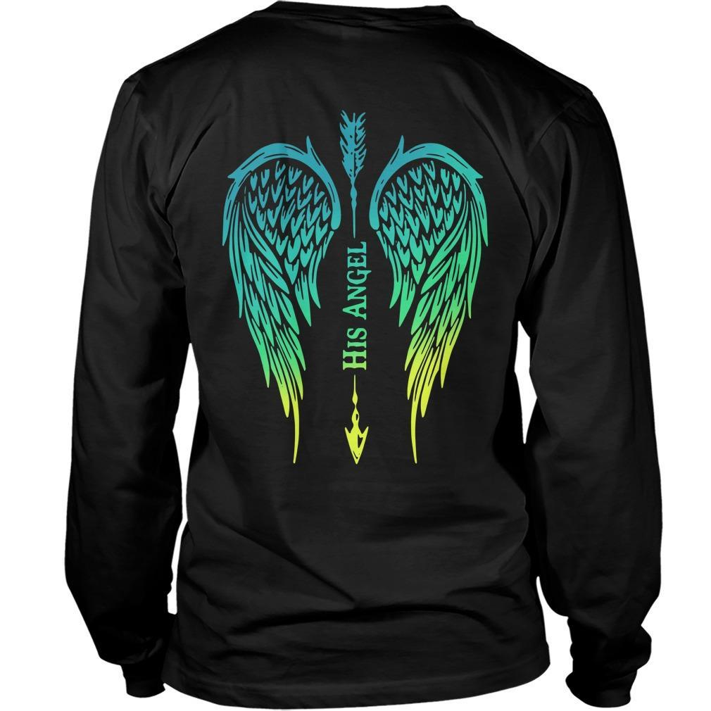 Arrow Cross Angel Wing His Angel Longsleeve