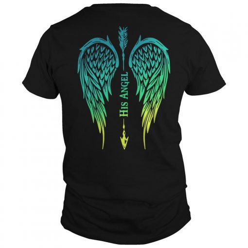 Arrow Cross Angel Wing His Angel Shirt
