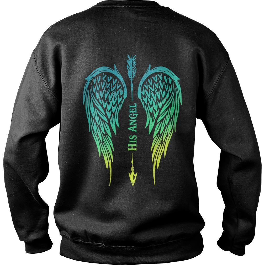 Arrow Cross Angel Wing His Angel Sweater