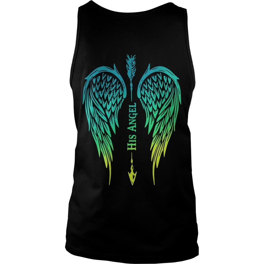 Arrow Cross Angel Wing His Angel Tank Top