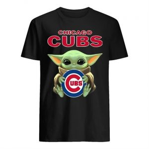 Baby Yoda Hugging Chicago Cubs Shirt