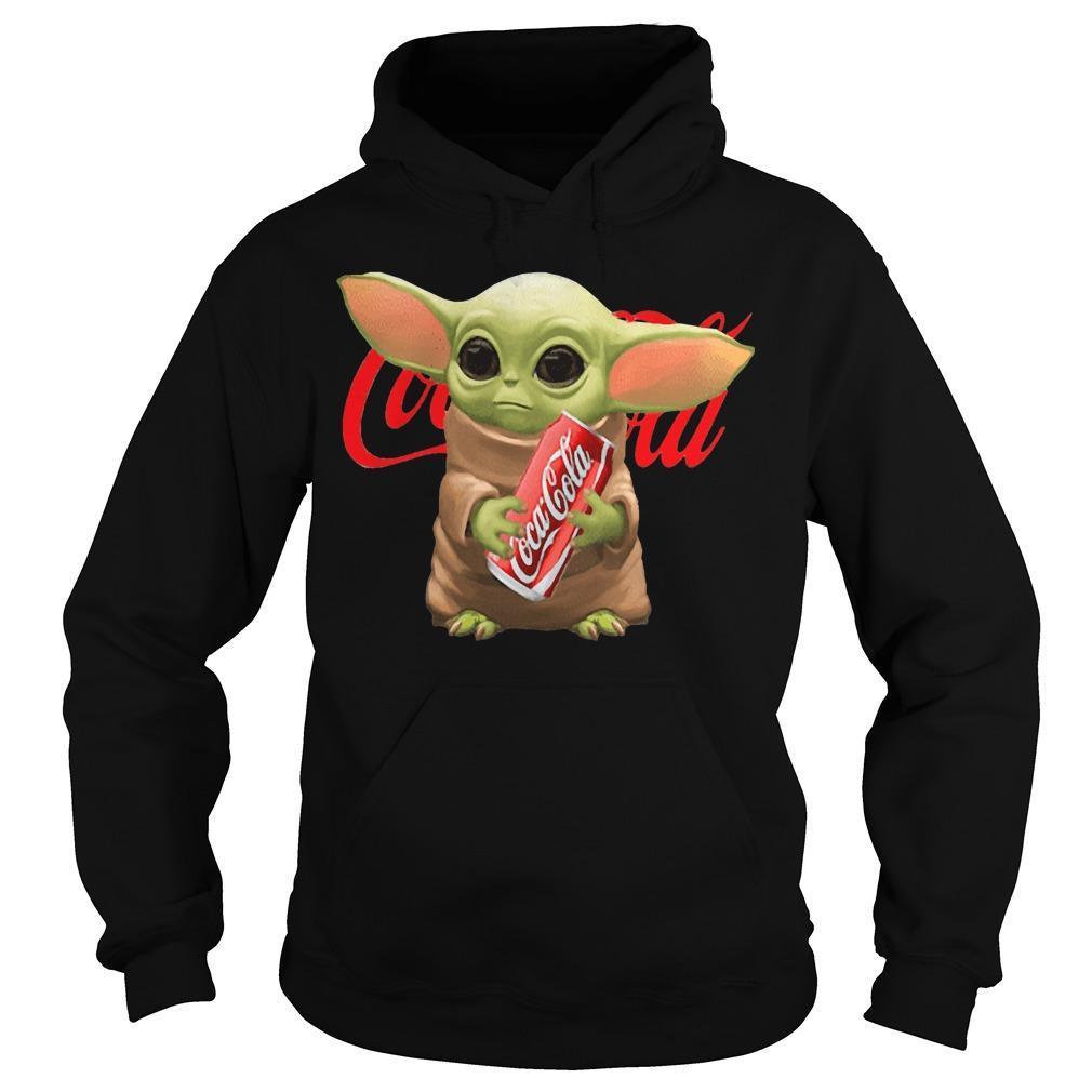 Baby Yoda Hugging Coca Cola Hoodie