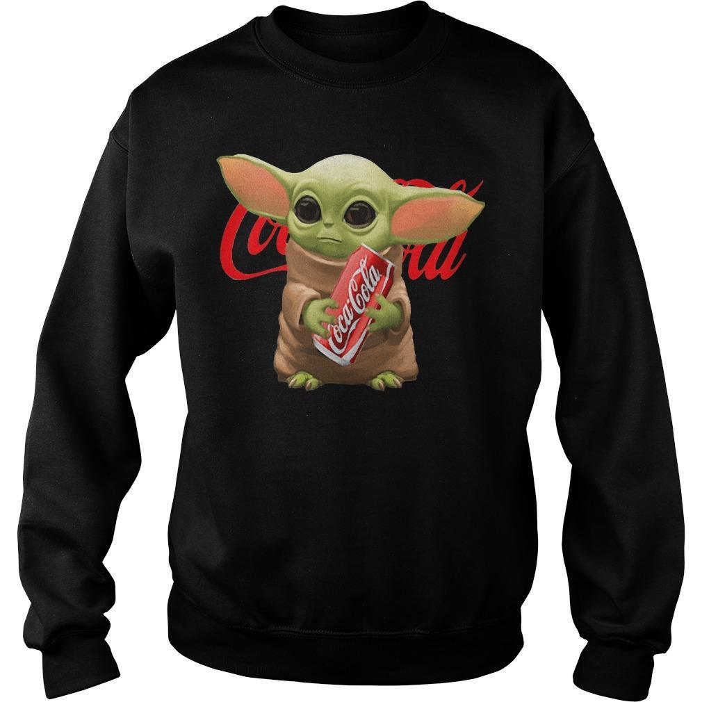 Baby Yoda Hugging Coca Cola Sweater