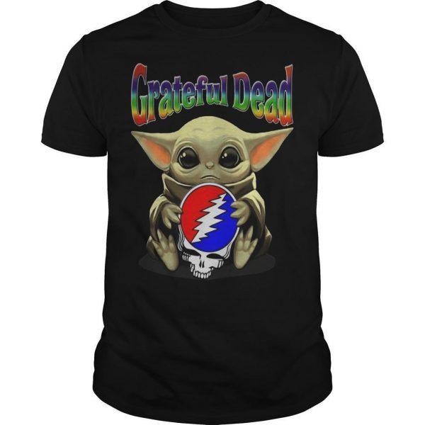 Baby Yoda Hugging Grateful Dead Shirt
