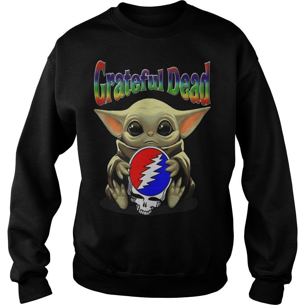 Baby Yoda Hugging Grateful Dead Sweater