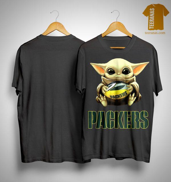 Baby Yoda Hugging Green Bay Packers Shirt