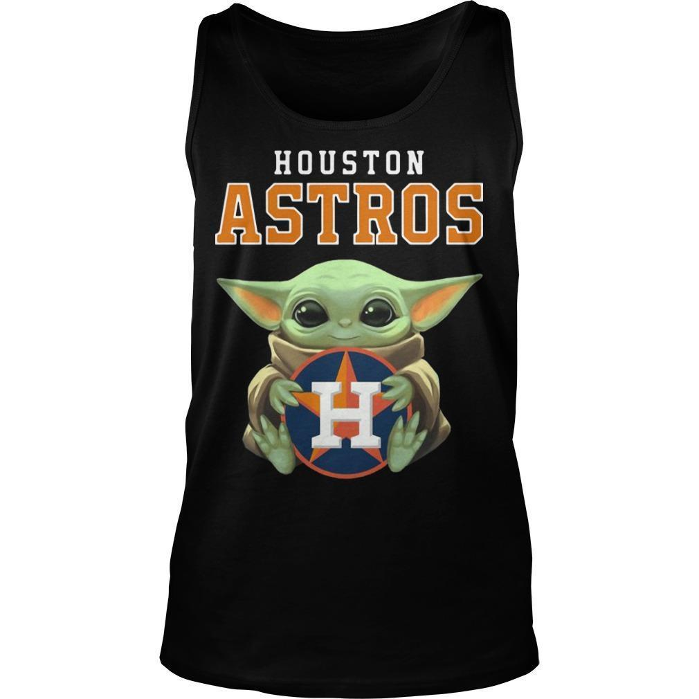 Baby Yoda Hugging Houston Astros Tank Top