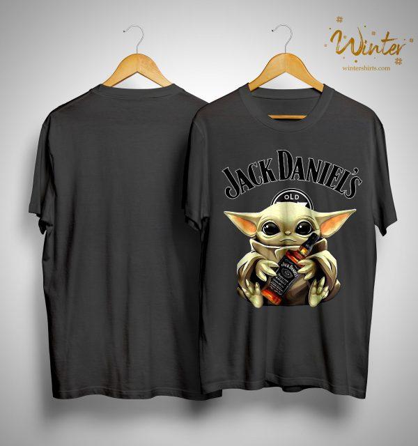 Baby Yoda Hugging Jack Daniel's Whiskey Shirt