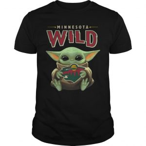 Baby Yoda Hugging Minnesota Wild Shirt