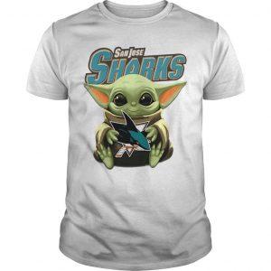 Baby Yoda Hugging San Jose Sharks Shirt