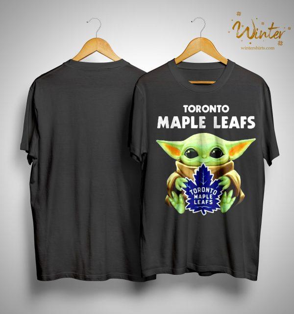 Baby Yoda Hugging Toronto Maple Leafs Shirt