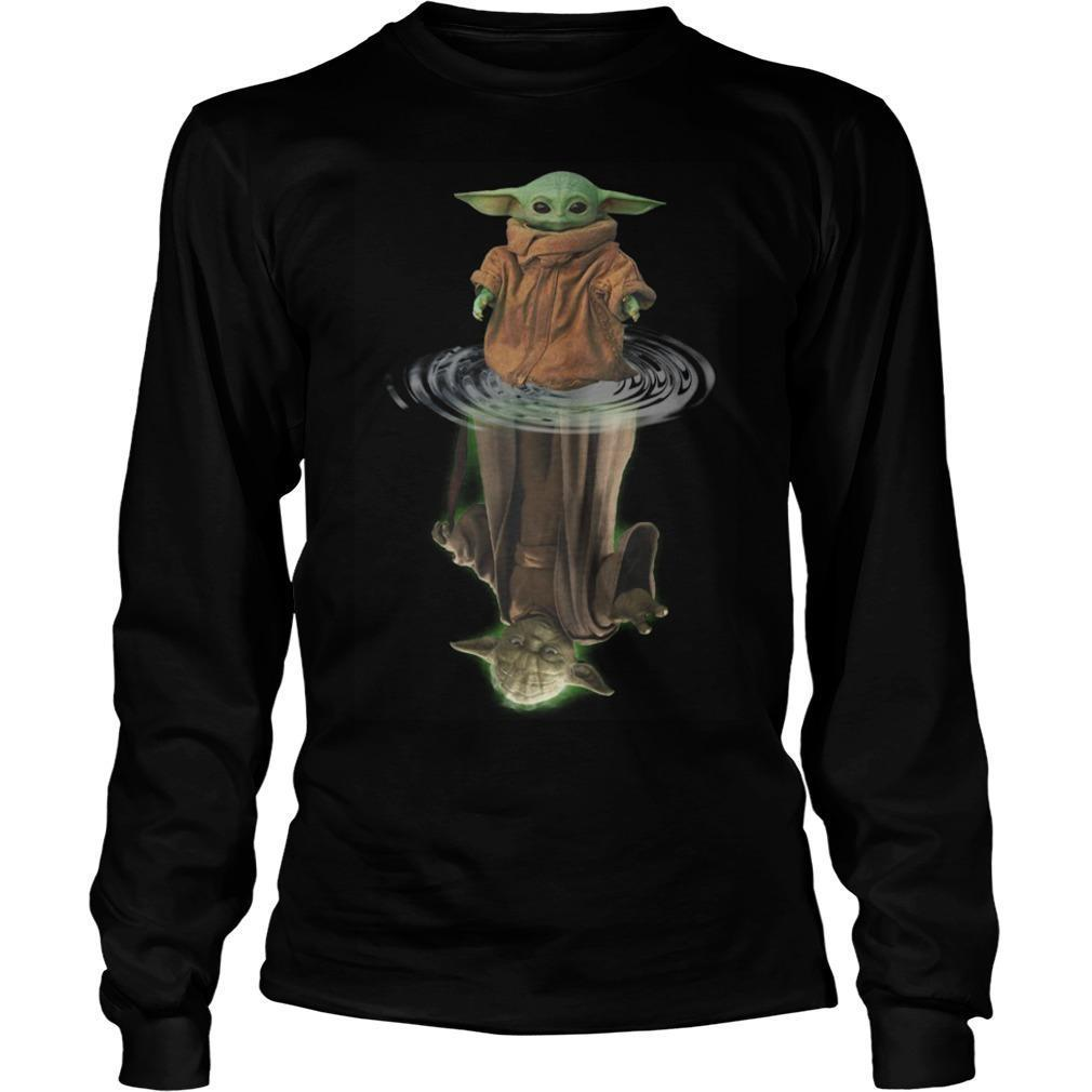 Baby Yoda Water Reflection Longsleeve