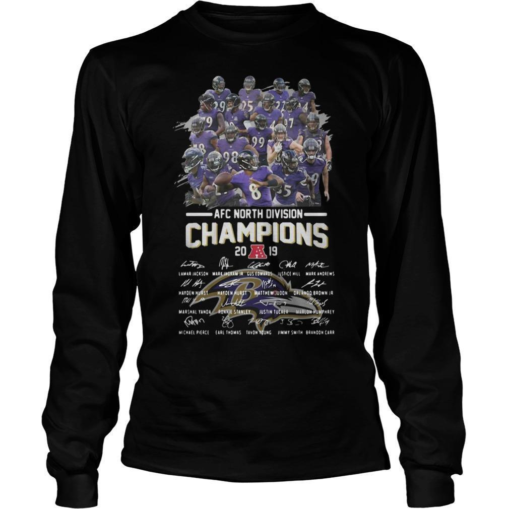 Baltimore Ravens Afc North Division Champions 2019 Signatures Longsleeve