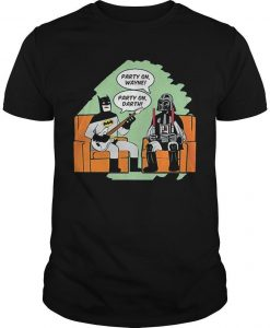 Batman And Darth Vader Party On Wayne Party On Darth Shirt