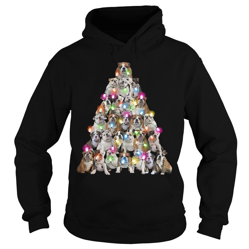 Bull Dog Christmas Tree Hoodie