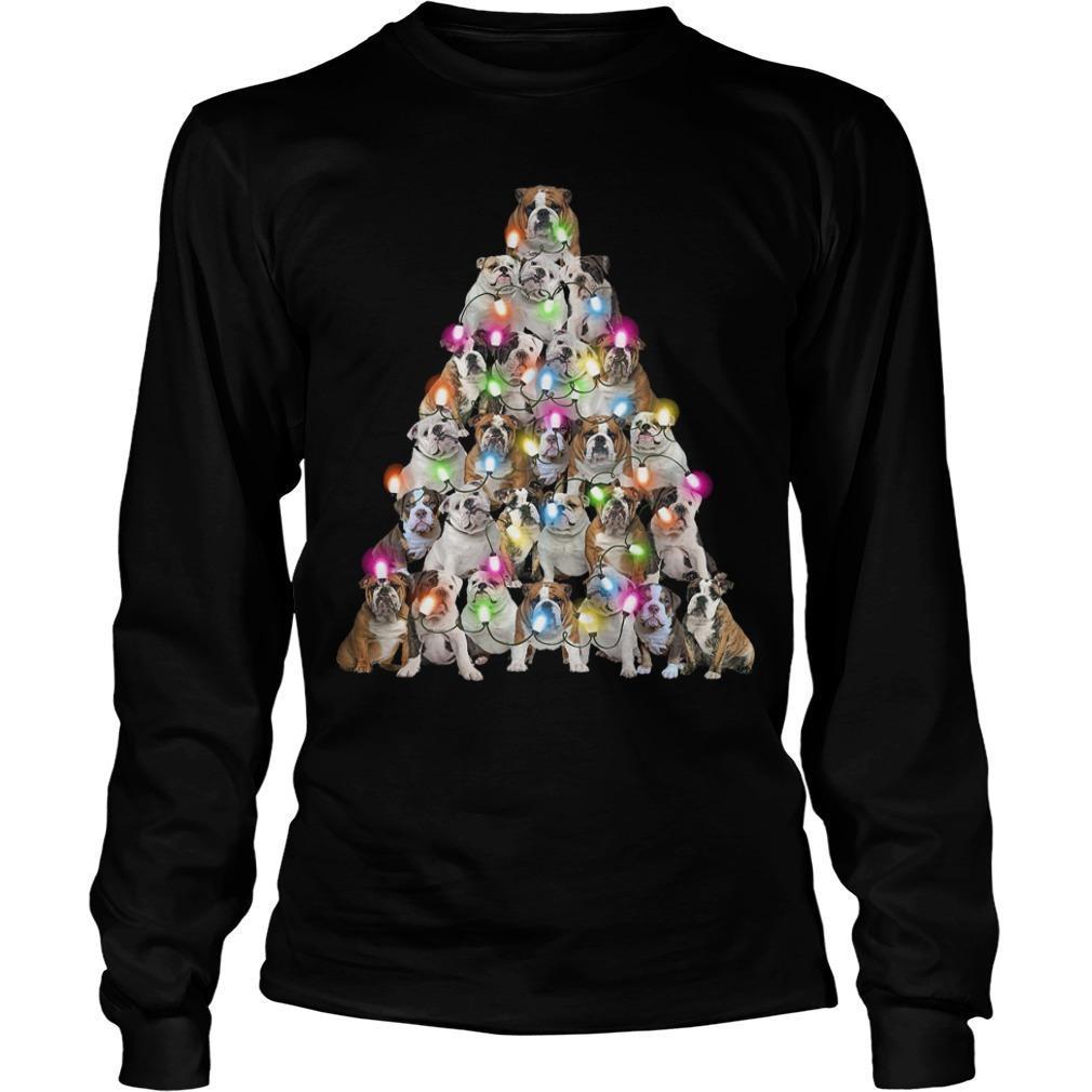Bull Dog Christmas Tree Longsleeve