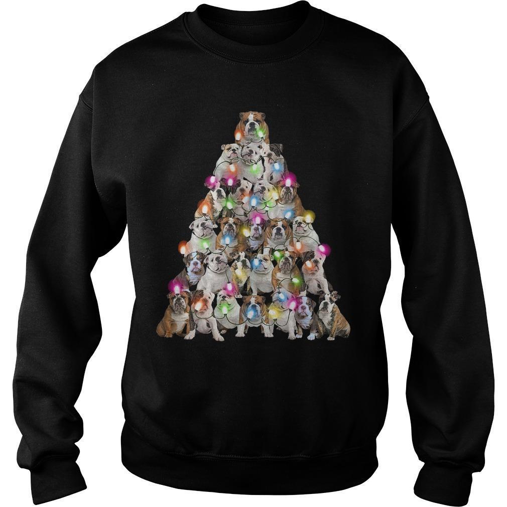 Bull Dog Christmas Tree Sweater