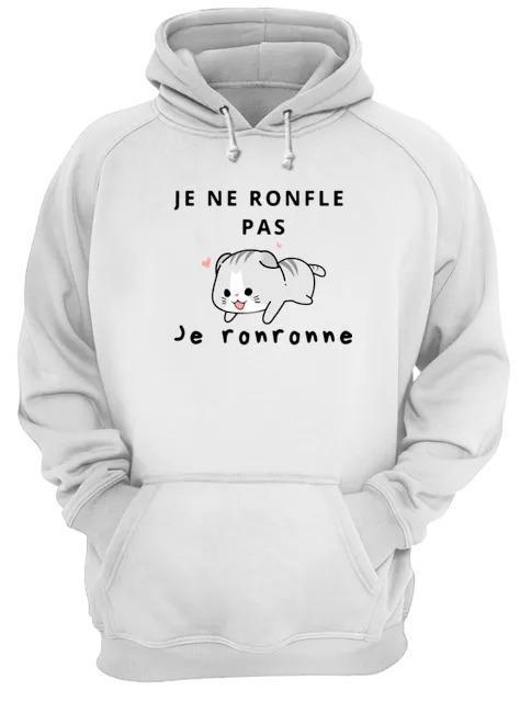 Cat Je Ne Ronfle Pas Je Ronronne Hoodie