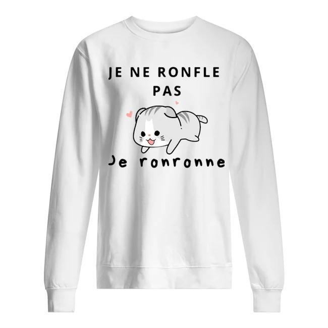 Cat Je Ne Ronfle Pas Je Ronronne Sweater
