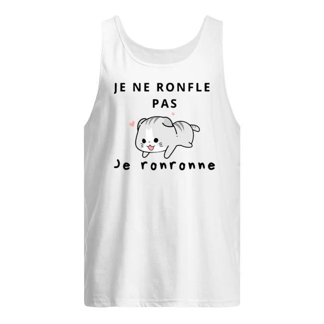 Cat Je Ne Ronfle Pas Je Ronronne Tank Top