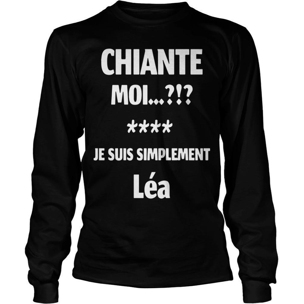 Chiante Moi Je Suis Simplement Léa Longsleeve