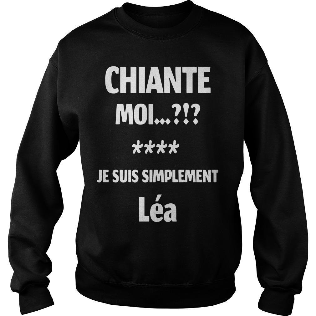 Chiante Moi Je Suis Simplement Léa Sweater