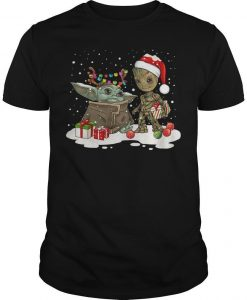 Christmas Baby Yoda And Groot Shirt