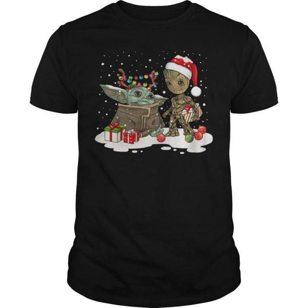 Christmas Baby Yoda And Groot Shirt