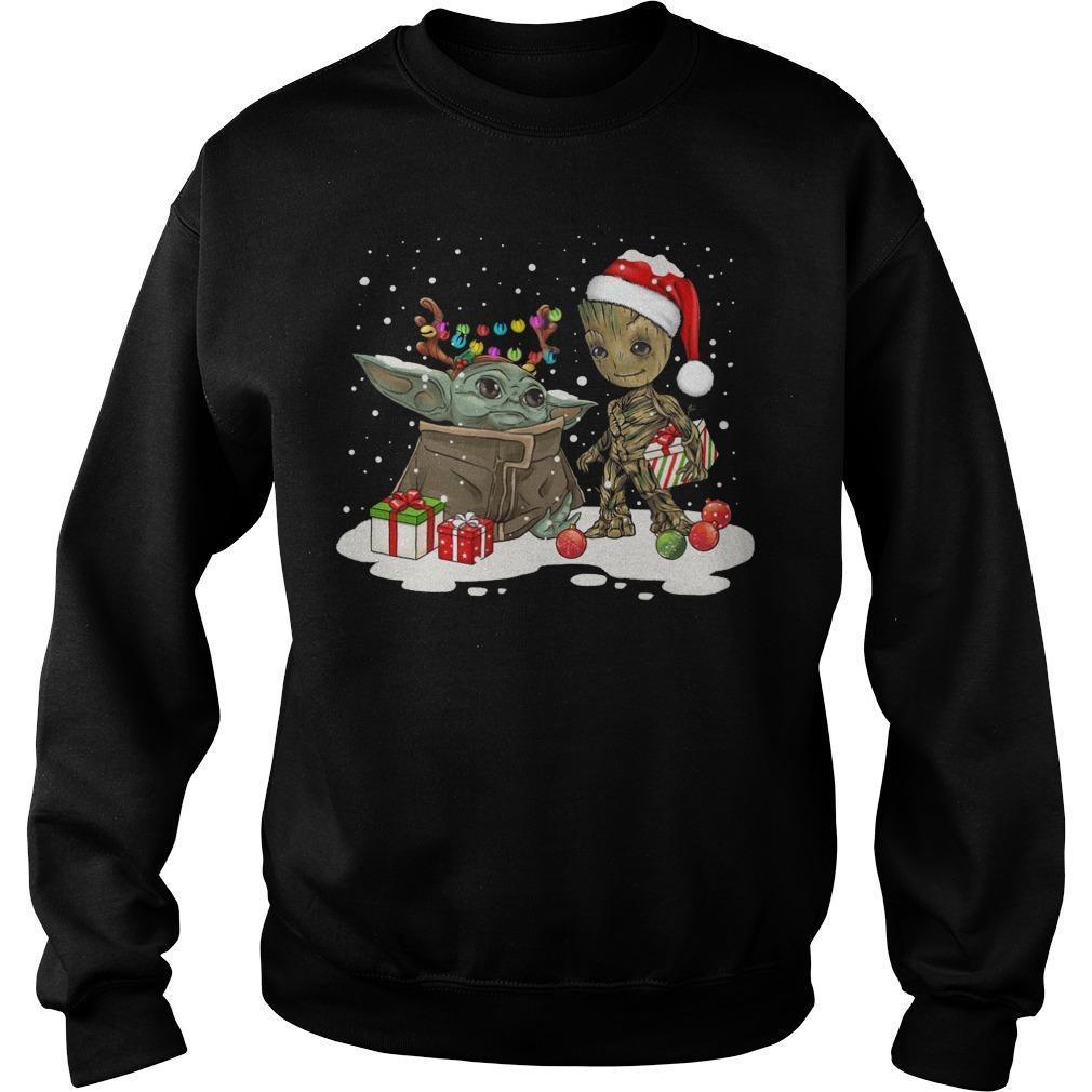 Christmas Baby Yoda And Groot Sweater