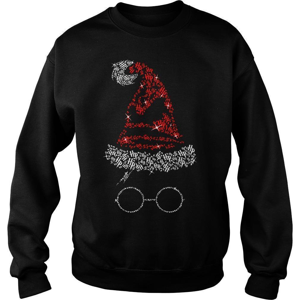 Christmas Harry Potter Santa Rhinestone Sorting Hat Sweater