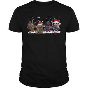 Christmas Star Wars Boba Fett Yoda Darth Vader Stormtrooper Shirt