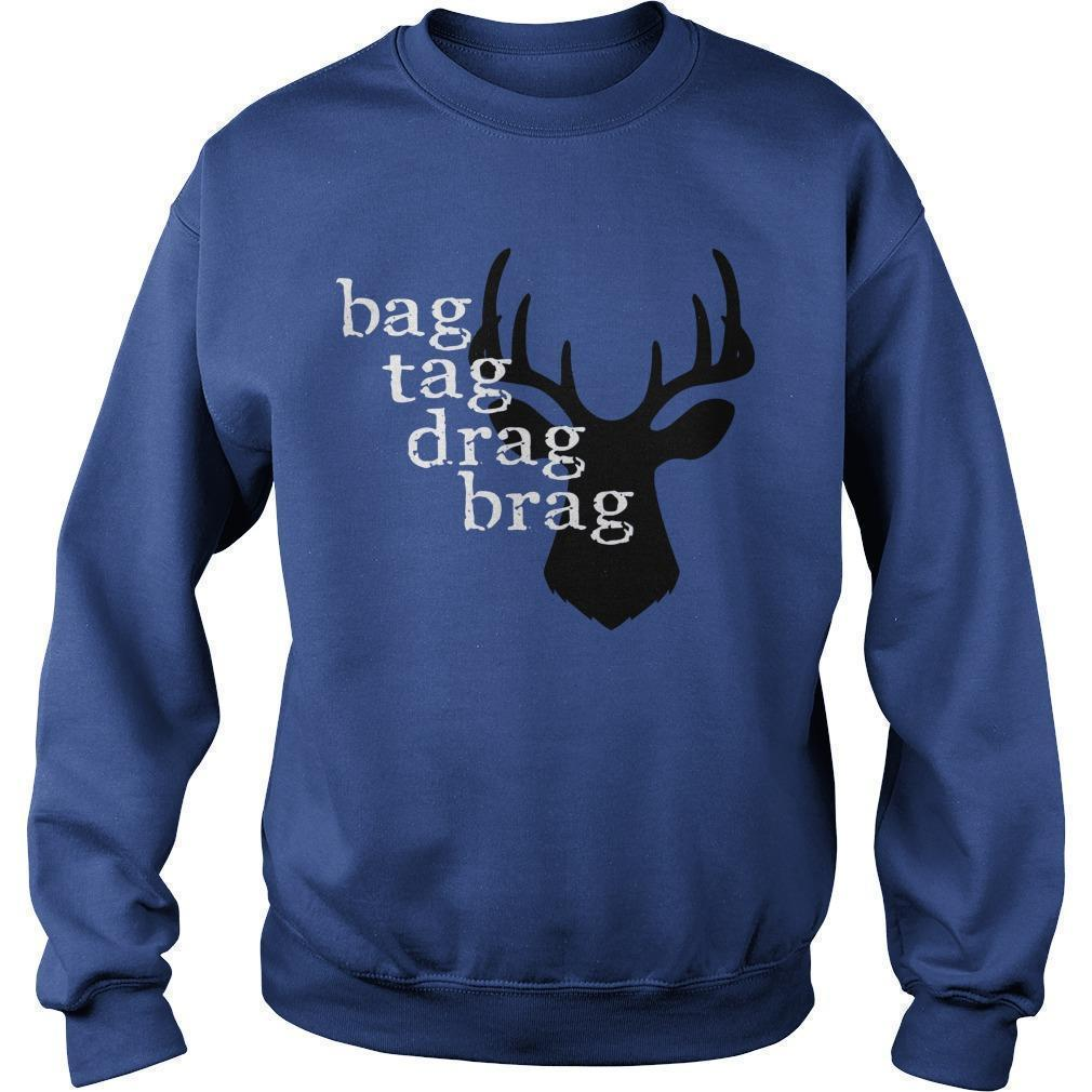 Deer Bag Tag Drag Brag Sweater