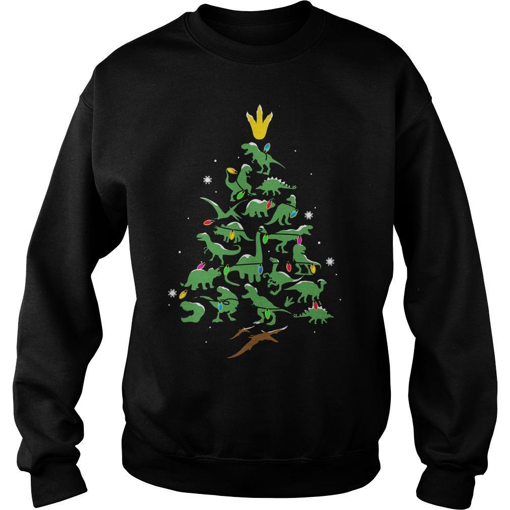 Dinosaur Christmas Tree Sweater