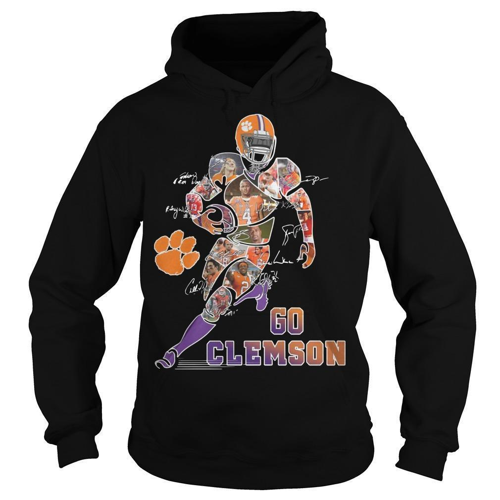 Dog Paw Player Signatures Go Clemson Hoodie