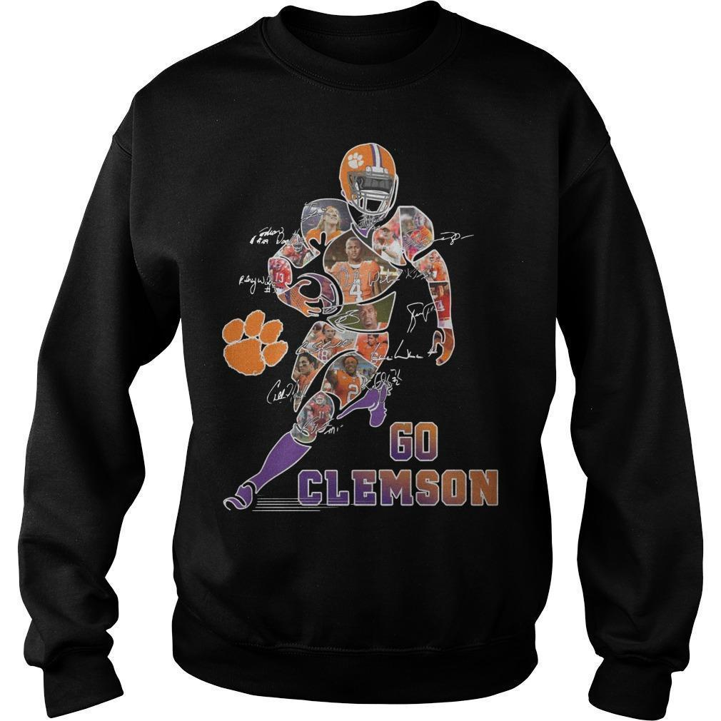 Dog Paw Player Signatures Go Clemson Sweater