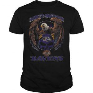 Eagle Harley Davidson Baltimore Ravens Shirt