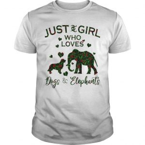 Floral Just A Girl Who Loves Dogs And Elephants Shirt