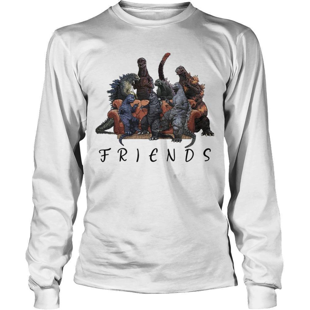 Godzilla Tv Show Friends Longsleeve