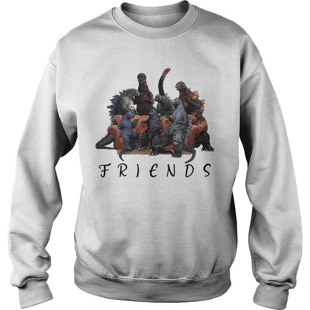 Godzilla Tv Show Friends Sweater
